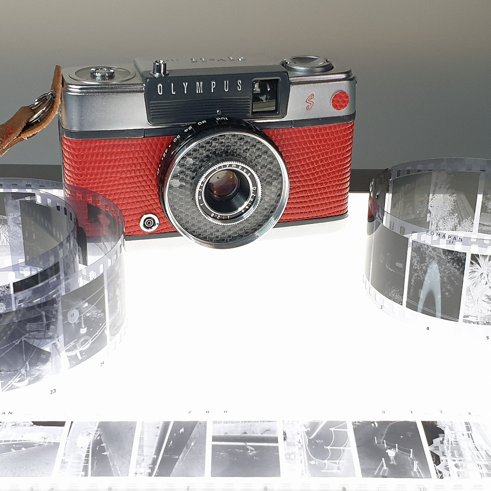 Greenwich Cameras and Film. Lovingly serviced Olympus Pen Half Frame 35mm film camera