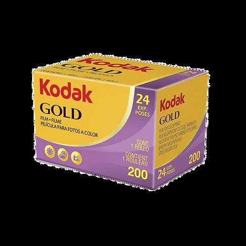 Kodak Gold 200 24 Exp. single roll Colour Film 35mm