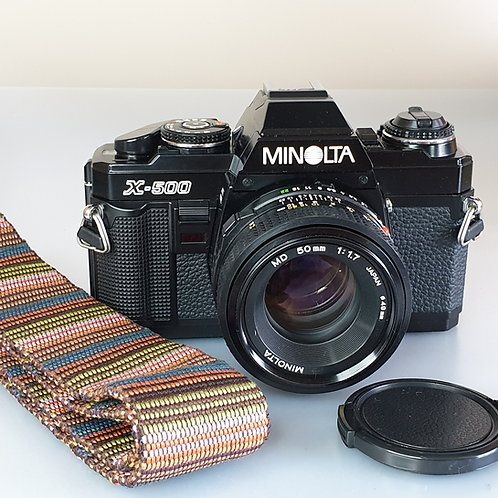 Minolta X500 Black with MD  50mm 1.7 MD lens.