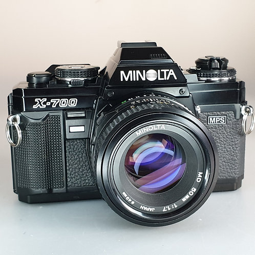 Minolta X700 MPS with 50mm 1.7 MD.