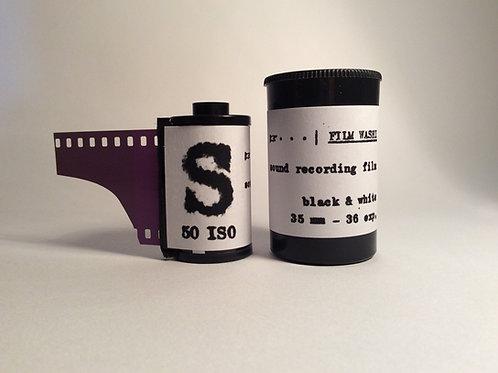 "Film Washi ""S"" ISO 50 Black and White SOUND RECORDING FILM 35mm-36 e"