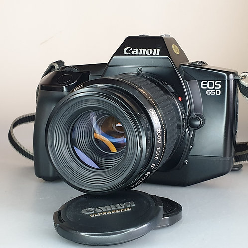 Canon EOS 650 with 80-200mm f:4.5-5.6 ULTRASONIC EF zoom lens