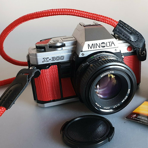 Minolta X300 with 50mm 1.7 MD lens . SERVICED