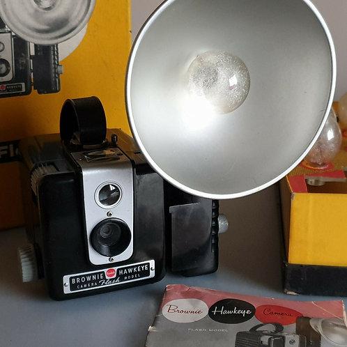 Kodak Brownie Hawkeye Flash Model outfit. 610 box camera
