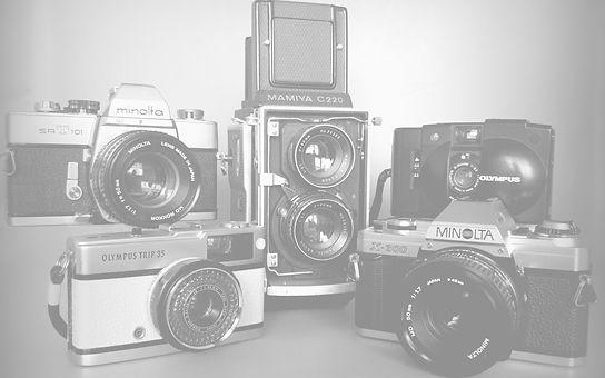 Lovingly serviced vintage analogue film cameras