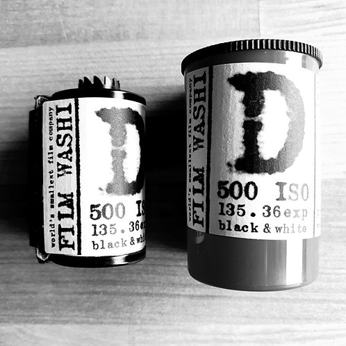 "Film Washi ""D"" ISO 500 Black & White 35mm, 36 exposures"