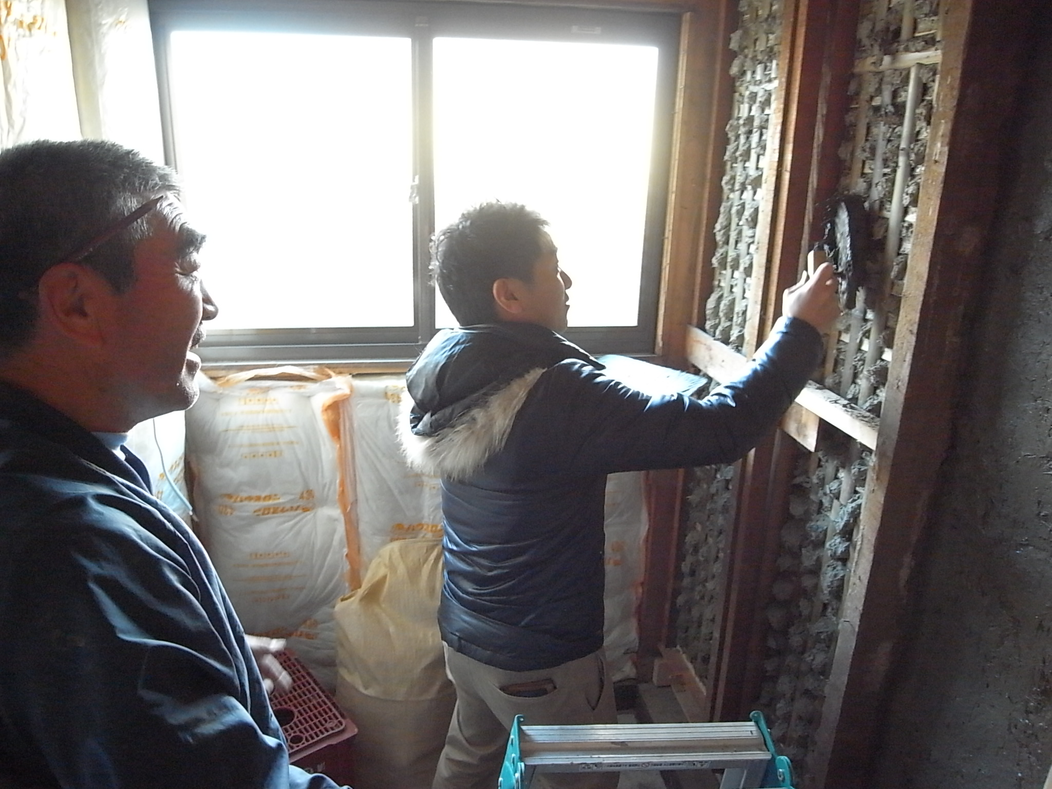 日野市・N邸 土壁塗り