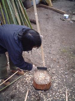 竹の節取り