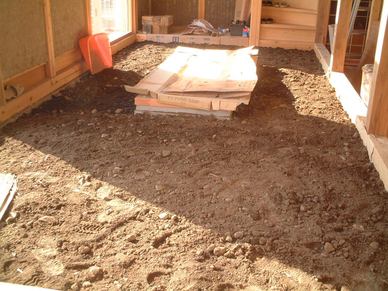居間の土間工事