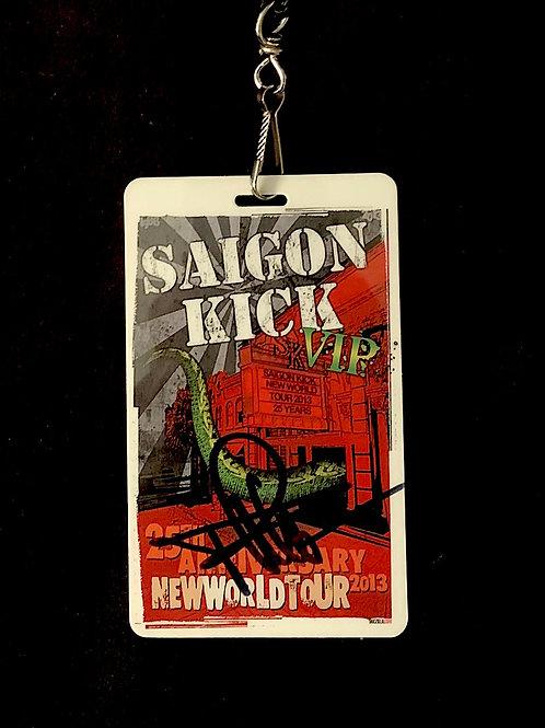SAIGON KICK VIP LAMINATE FROM 25TH ANNIVERSARY TOUR