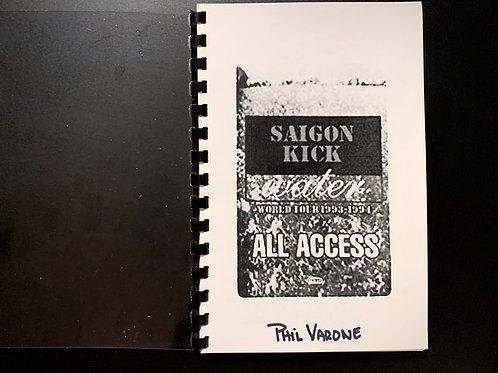 AUTOGRAPHED SAIGON KICK WATER TOUR 1993 TOUR ITINERARY BOOK