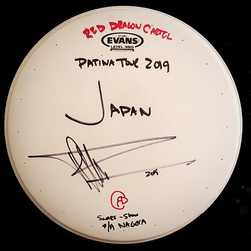 PATINA TOUR JAPAN - USED SNARE DRUM HEAD - FROM NAGOYA SHOW