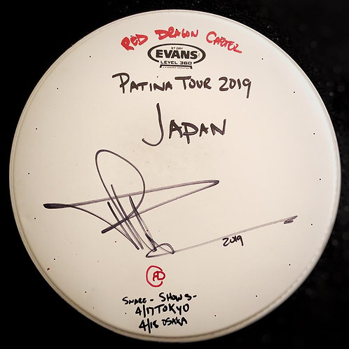 PATINA TOUR JAPAN - USED SNARE DRUM HEAD - FROM TOKYO & OSAKA SHOWS