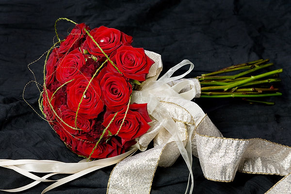 Red bouquet of flowers