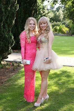 Girls at school prom
