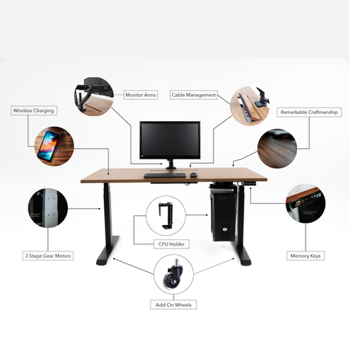 Ergonomic Sit-Stand Height Adjustable Table Malaysia