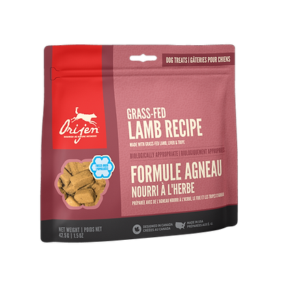 Grass-Fed Lamb            Freeze-Dried Dog Treats
