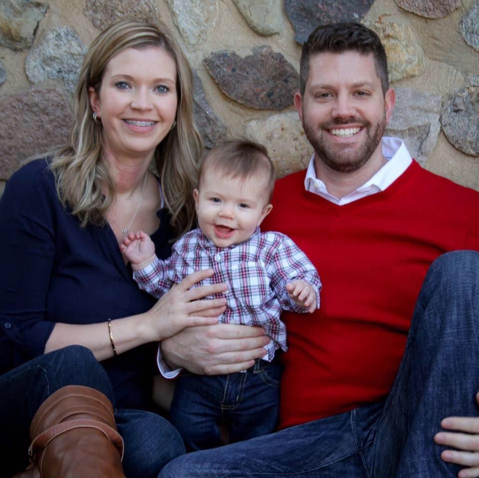 Loren Souers with wife Tessa and their son Porter