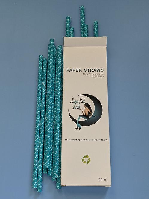 LunaKai Mermaid Paper Straws