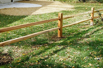 two-rail fence