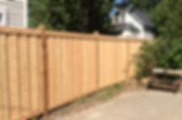 Board on Batten cedar fence