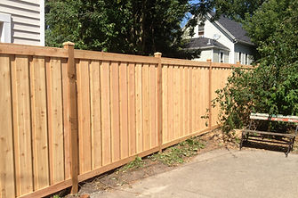 Board on Batten cedar fence
