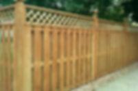 Lattice Topper cedar fence