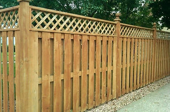 Lattice Topper cedar fence