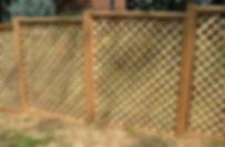 Lattice cedar fence