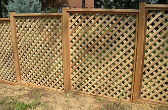 Lattice cedar fence