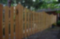 Scalloped Cedar fence