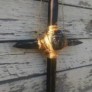Railroad Spike Cross