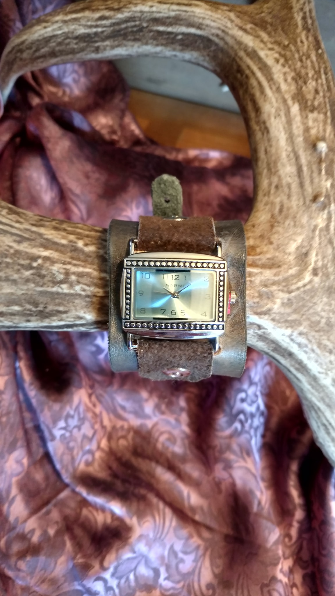 Western Leather Cuff Watch