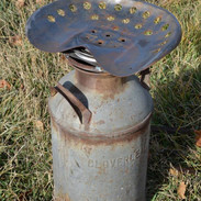 Tractor Seat Milk Can Bar Stool