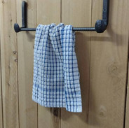 Railroad Spike Towel Rack