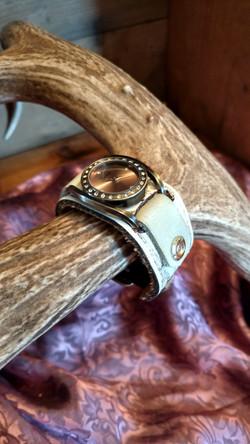 Western Leather Cuff Watch
