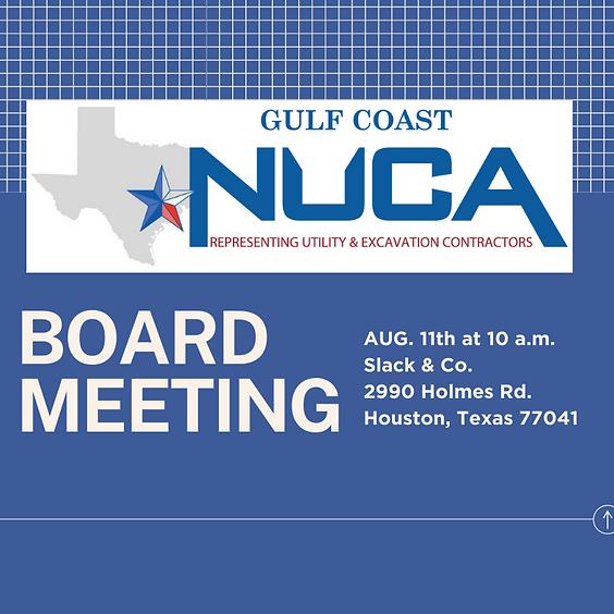NUCA Gulf Coast Board Meeting