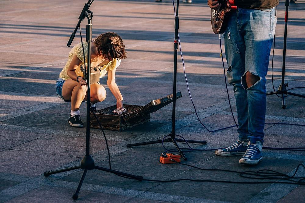 Musician Busking