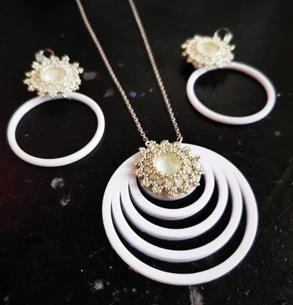 CIRCLE DIAMOND BIANCO PARURE