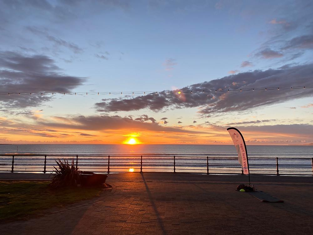 sunrise Filey promenade