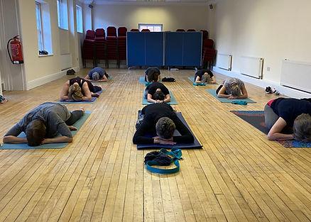 Happy Seal Yoga vinyasa flow class