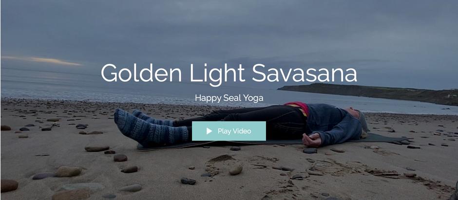 Golden light guided savasana