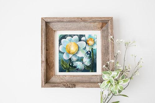 "Moon Moth 8""x8"" Giclee Print"
