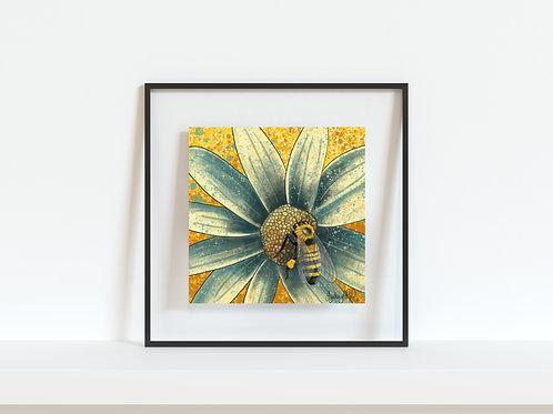 "Honey Bee 8""x8"" Giclee Print"