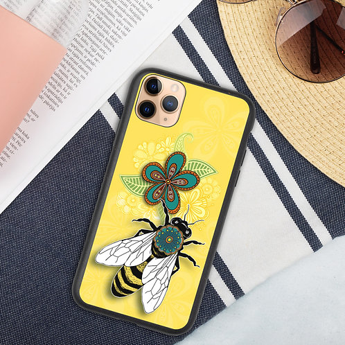 Flora Bee Biodegradable phone case