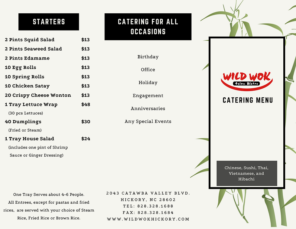 Wild Wok Asian Bistro Catering Menu Front.png