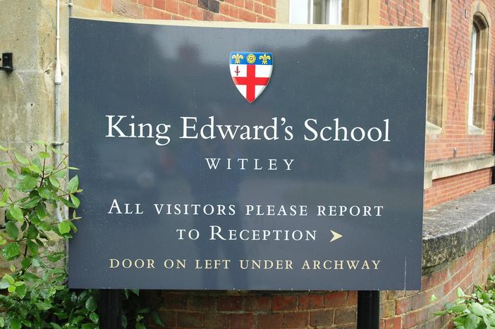 School signage assures clarity
