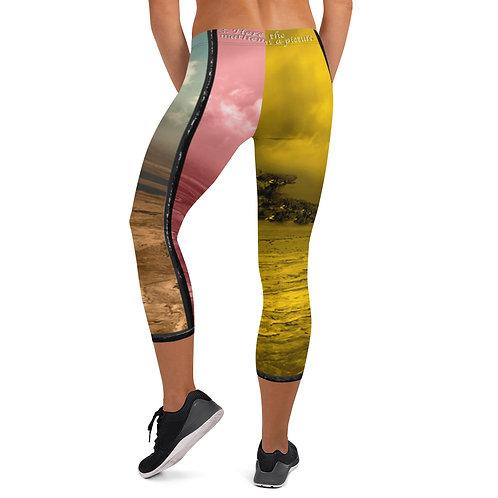 Capri Leggings Tri Colour