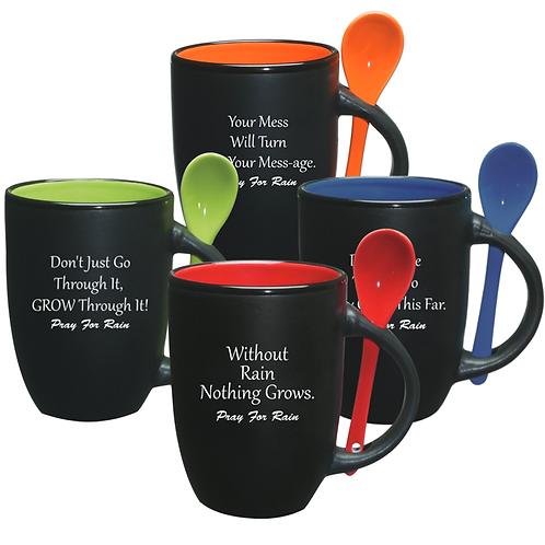 Set of 4 - 12oz. Spooner Mugs Assorted Motivation