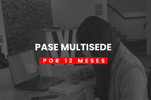 PASE MULTISEDE 12 MESES